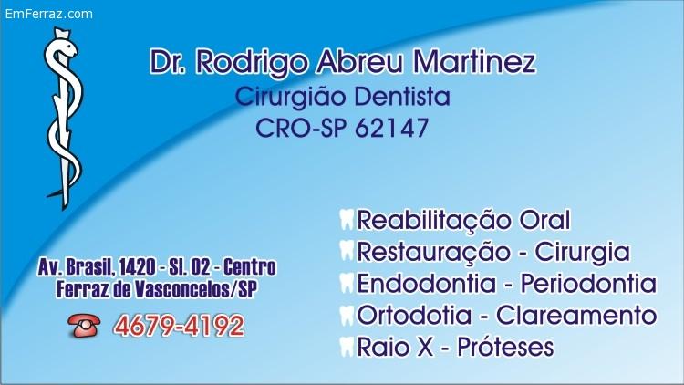 Cirurgião Dentista - Dr. Rodrigo Abreu Martinez